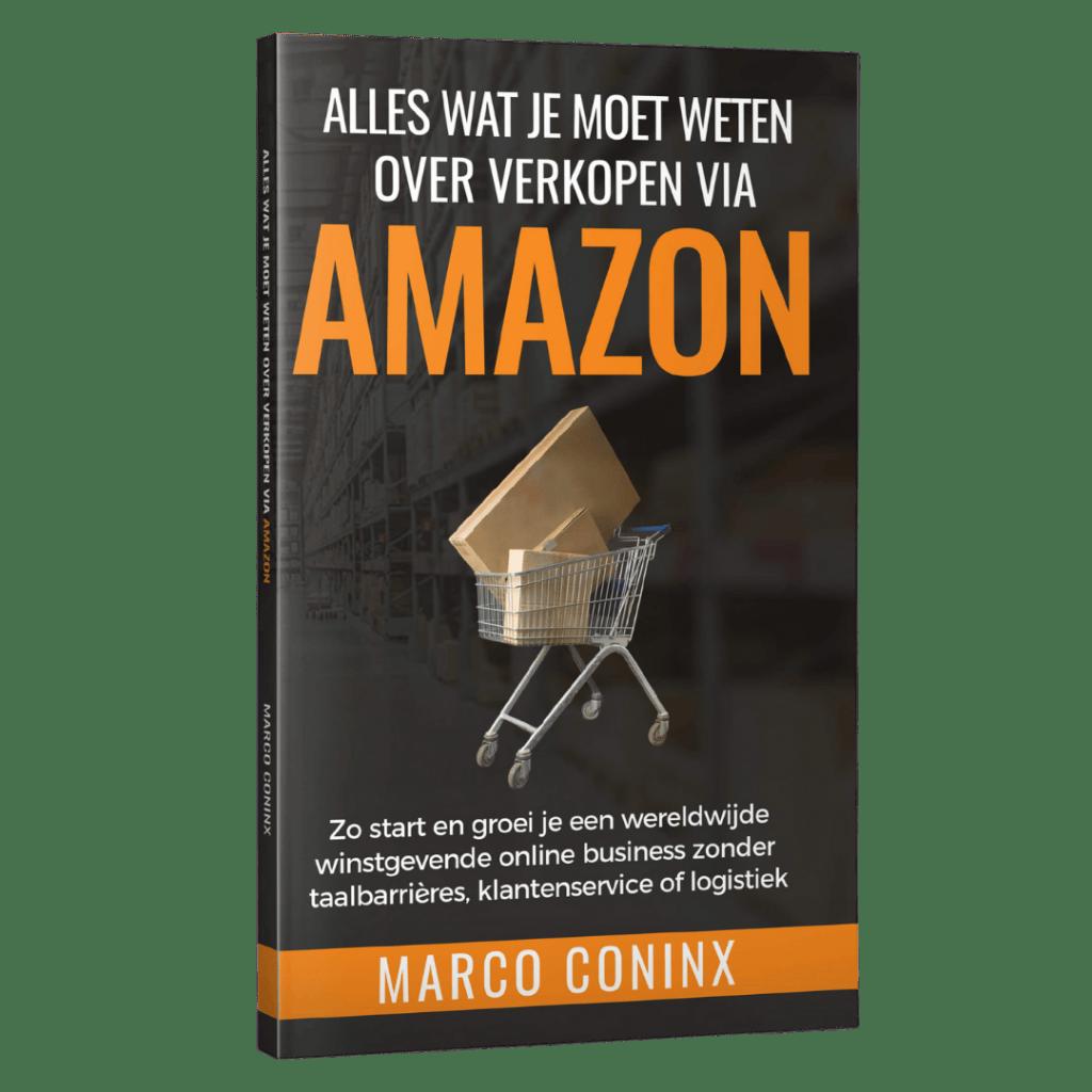 Alles Wat Je Moet Weten Over Verkopen Via Amazon Boek Van Marco Coninx Voorkant rechts